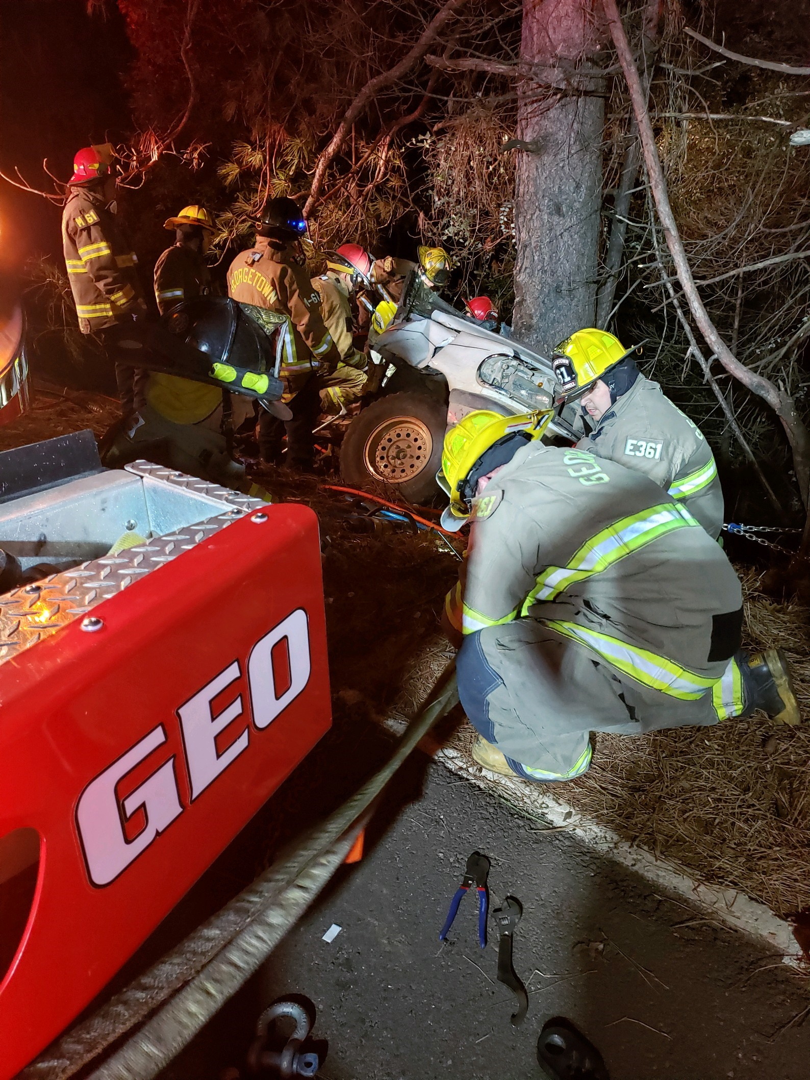 Georgetown Fire Department responded to a Traffic Collision on 12-28-19